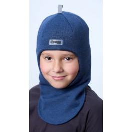 ШЛ-22011 Шапка-шлем, синий меланж