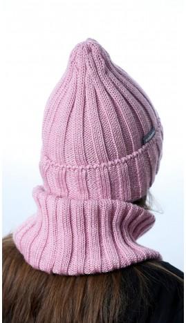 Ш-2201 Комплект (шапка,снуд), пудра