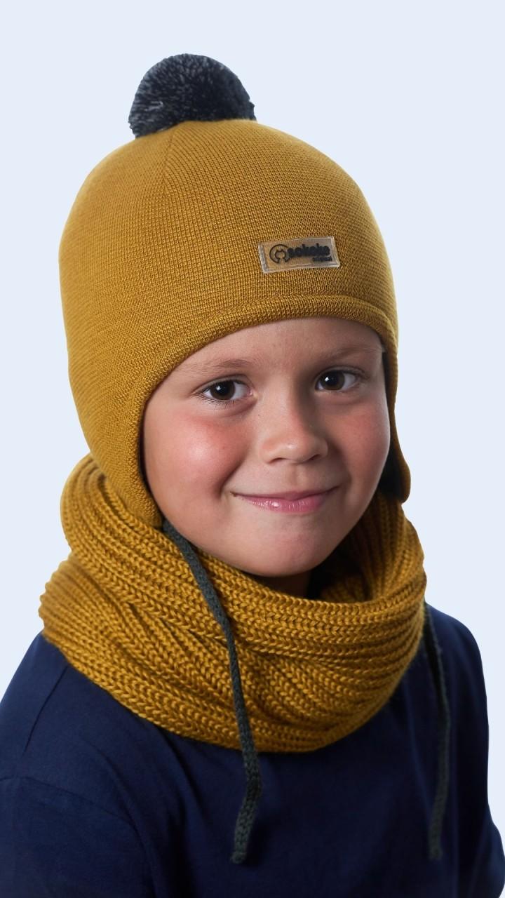 ШЗ-22011 Шапка детская, горчица