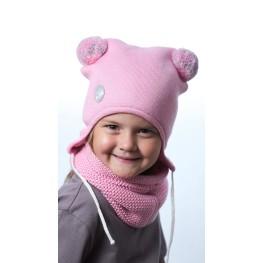 ШЗ-22022 Шапка детская, розовое суфле