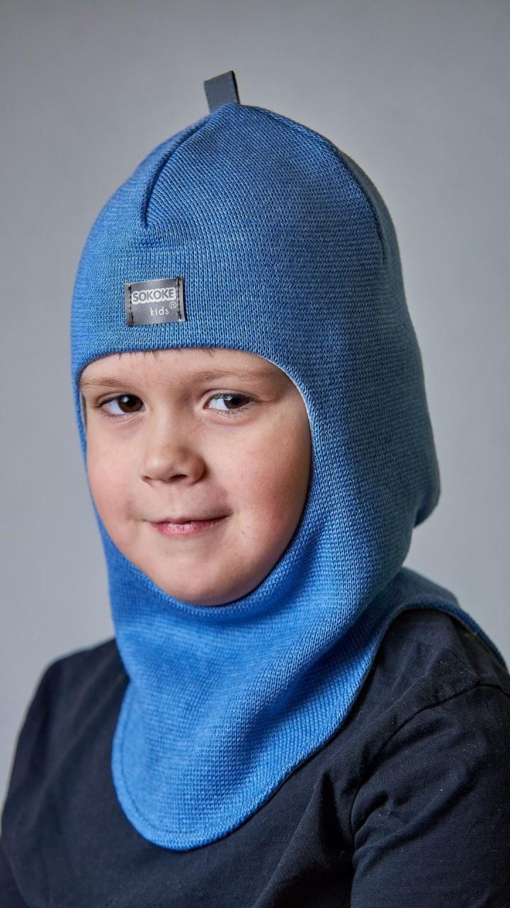 ДМШЛ-2101 Шапка-шлем, светлый джинс
