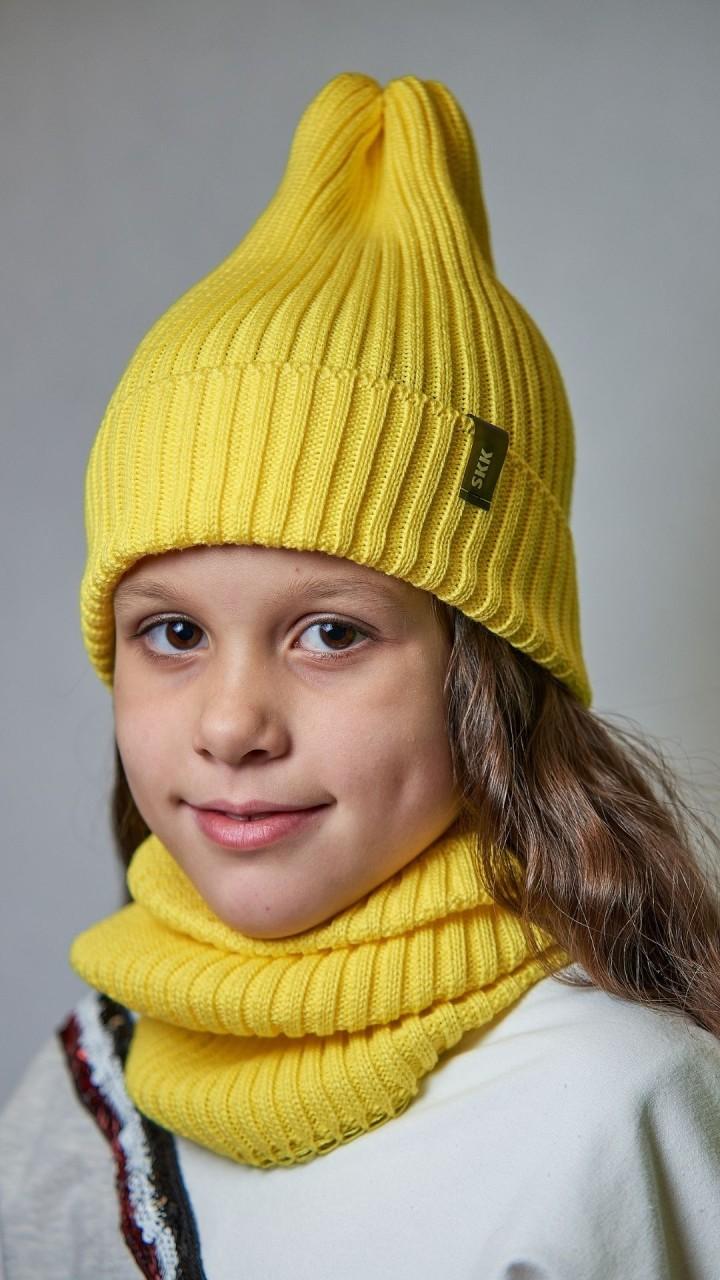 ДМШ-03 Комплект (шапка, снуд), лимон