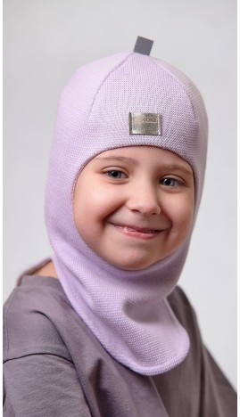 ДМШЛ-2102 Шапка-шлем, светлая сирень