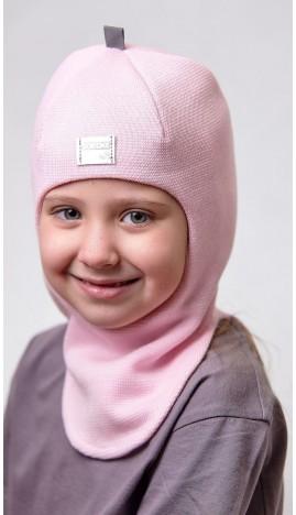 ДМШЛ-2101 Шапка-шлем, розовое суфле