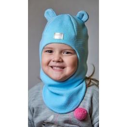 ДМШЛ-2104 Шапка-шлем, голубая мята