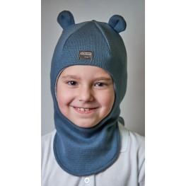ДМШЛ-2104 Шапка-шлем, серый муссон