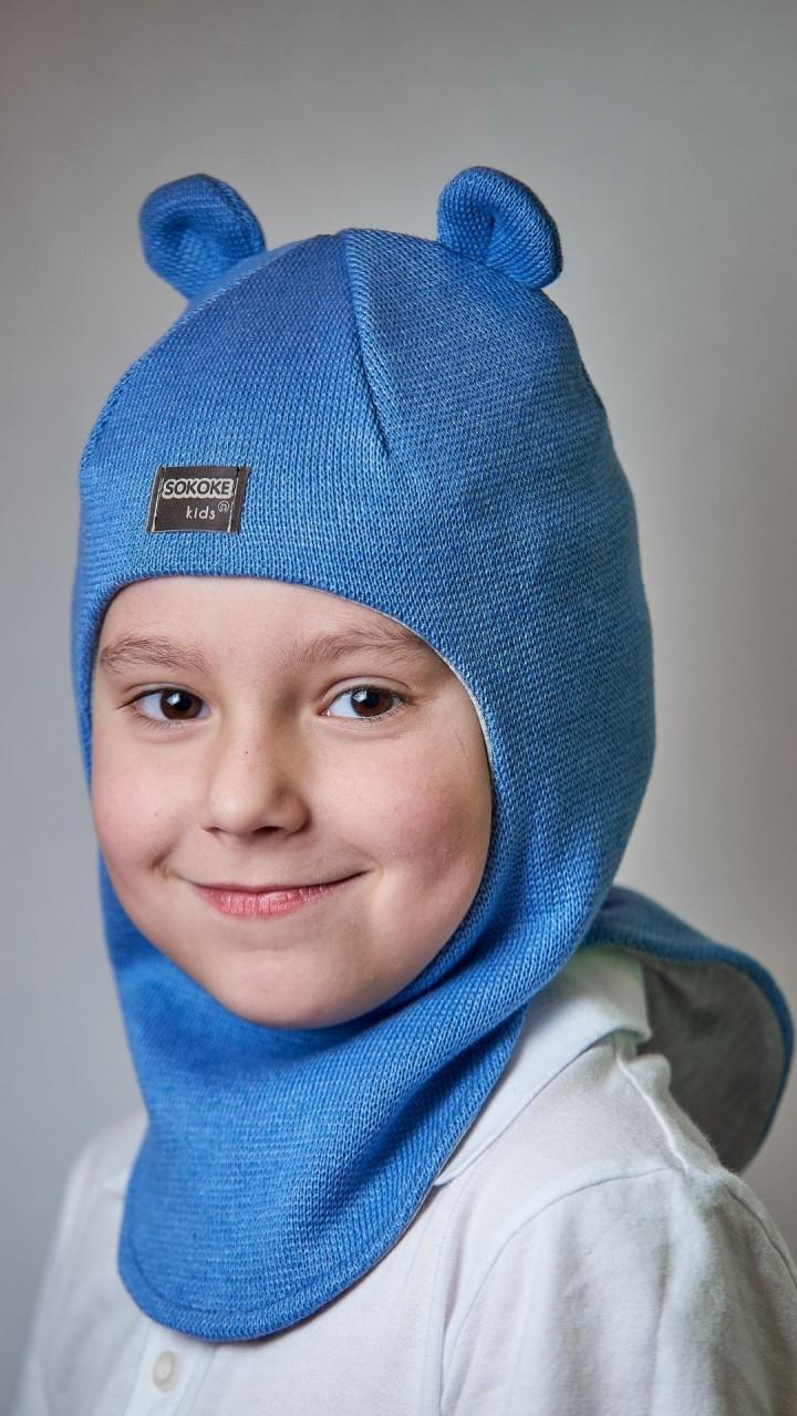 ДМШЛ-2104 Шапка-шлем, светлый джинс