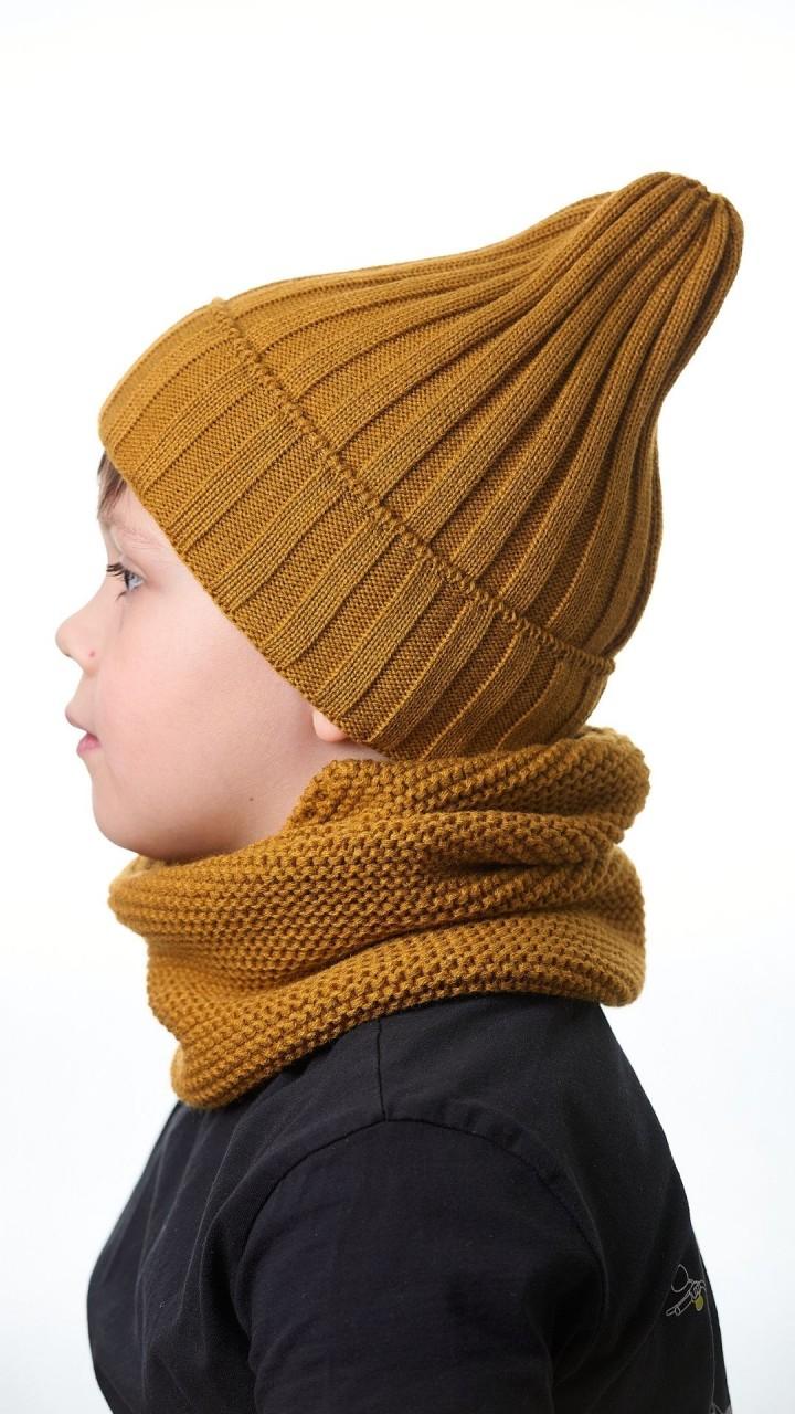 КШ-16 Комплект (шапка, снуд), горчица