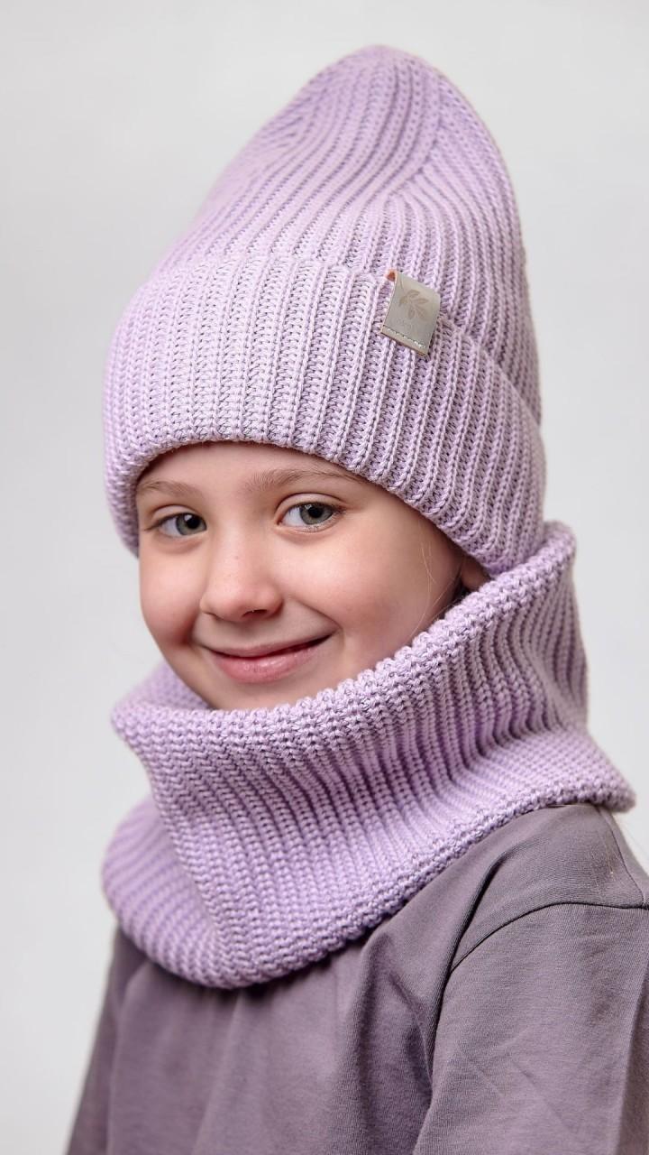 ДМШ-02 Комплект (шапка, снуд), светлая сирень