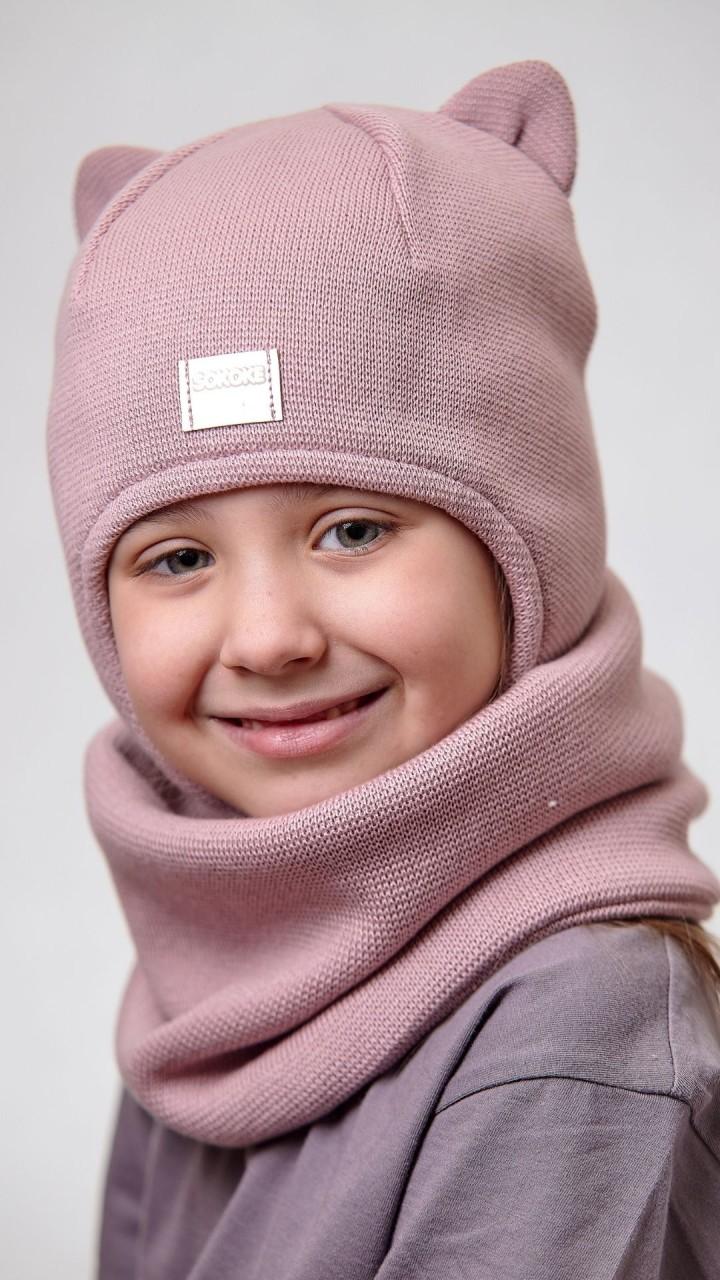 ДМШЗ-03 Комплект (шапка, снуд), пыльная роза
