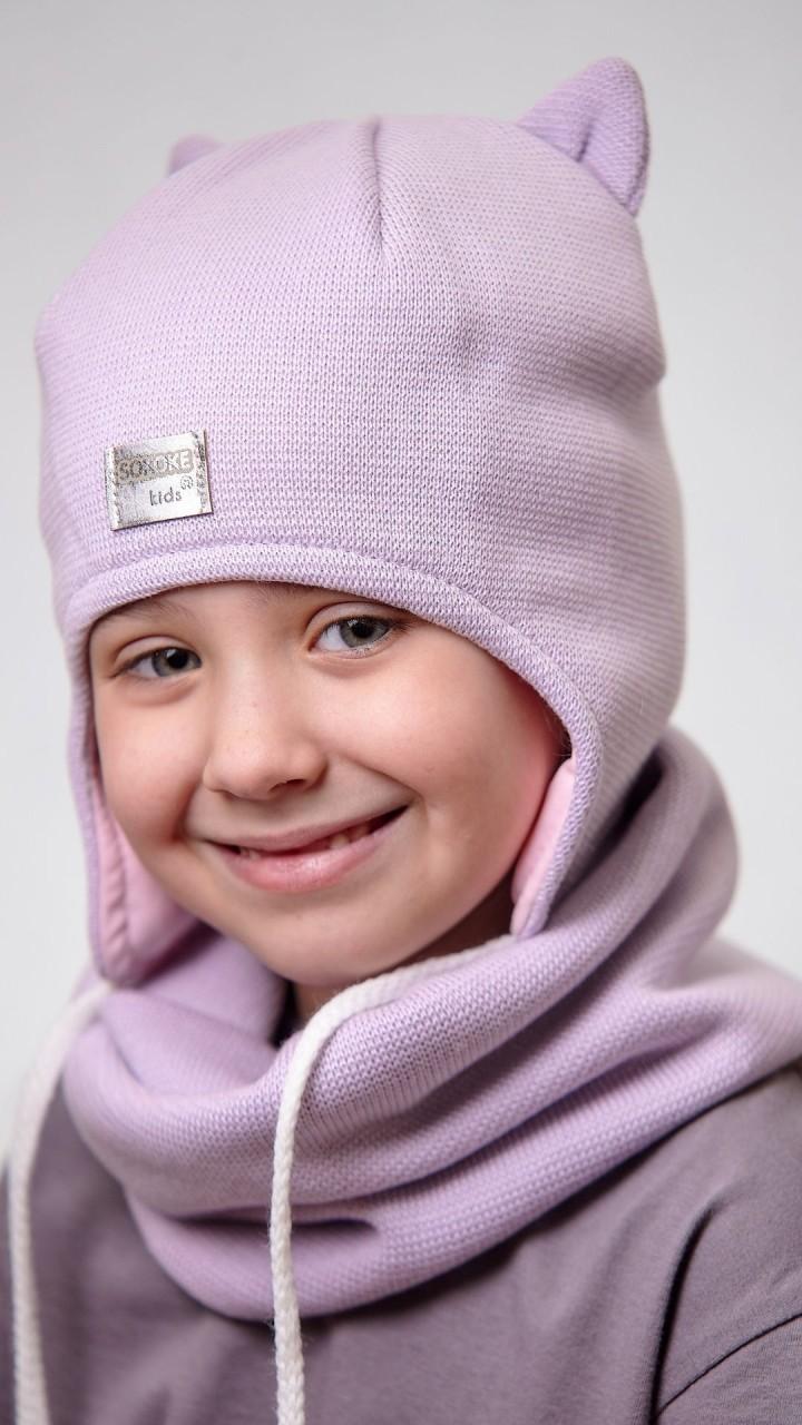 ДМШЗ-03 Комплект (шапка, снуд), светлая сирень