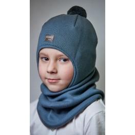 ДМШЗ-02 Комплект (шапка, снуд), серый муссон