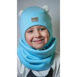 ДМШЗ-01 Комплект (шапка, снуд), голубая мята