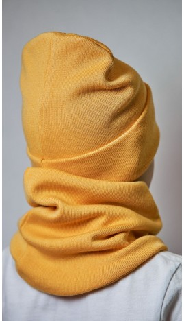 ДМШ-01 Комплект (шапка, снуд), светлая горчица