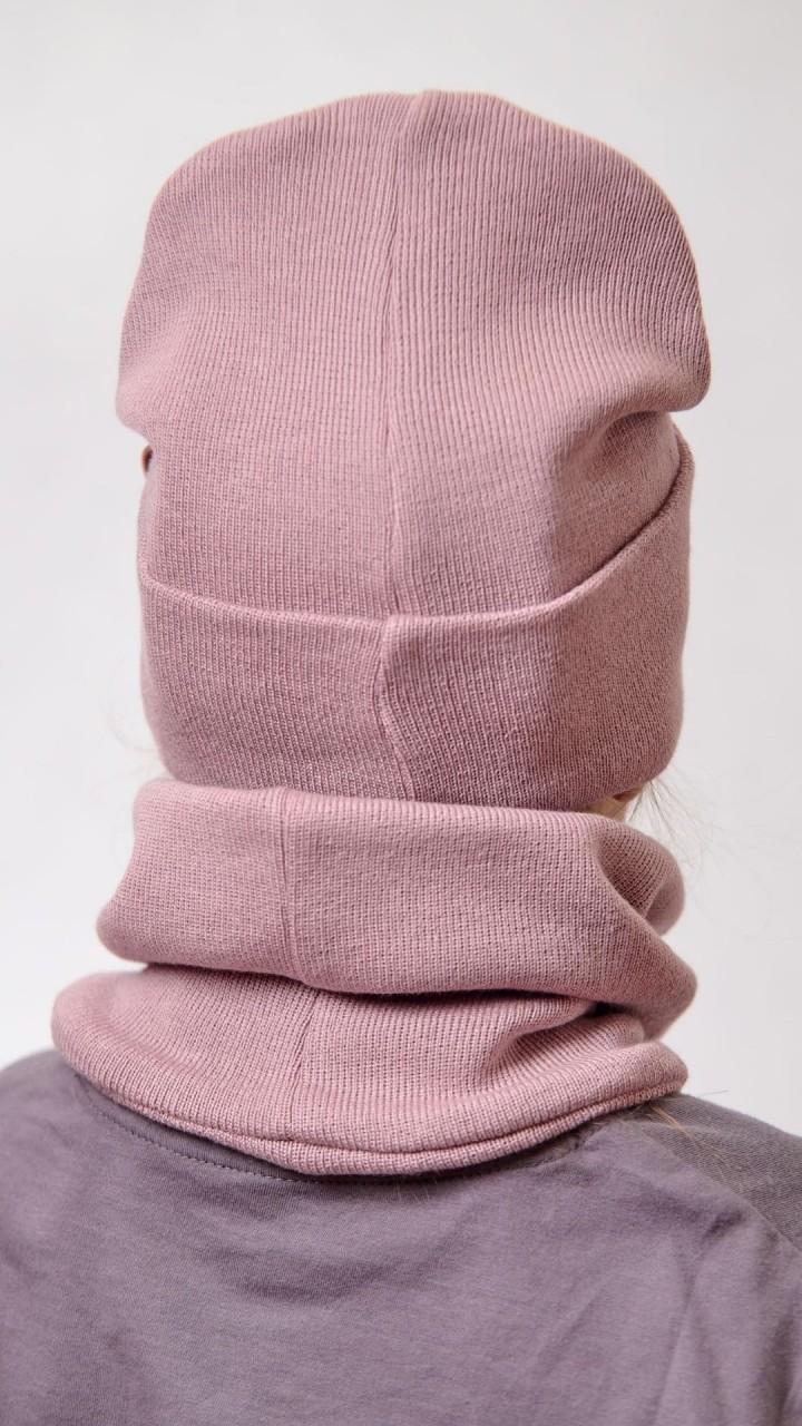 ДМШ-01 Комплект (шапка, снуд), пыльная роза