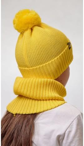 ДМШ-05 Комплект (шапка, снуд), лимон