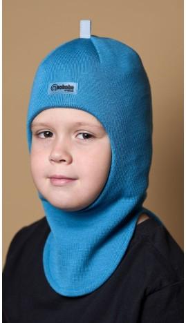 ШЛ-22011 Шапка-шлем, темная бирюза
