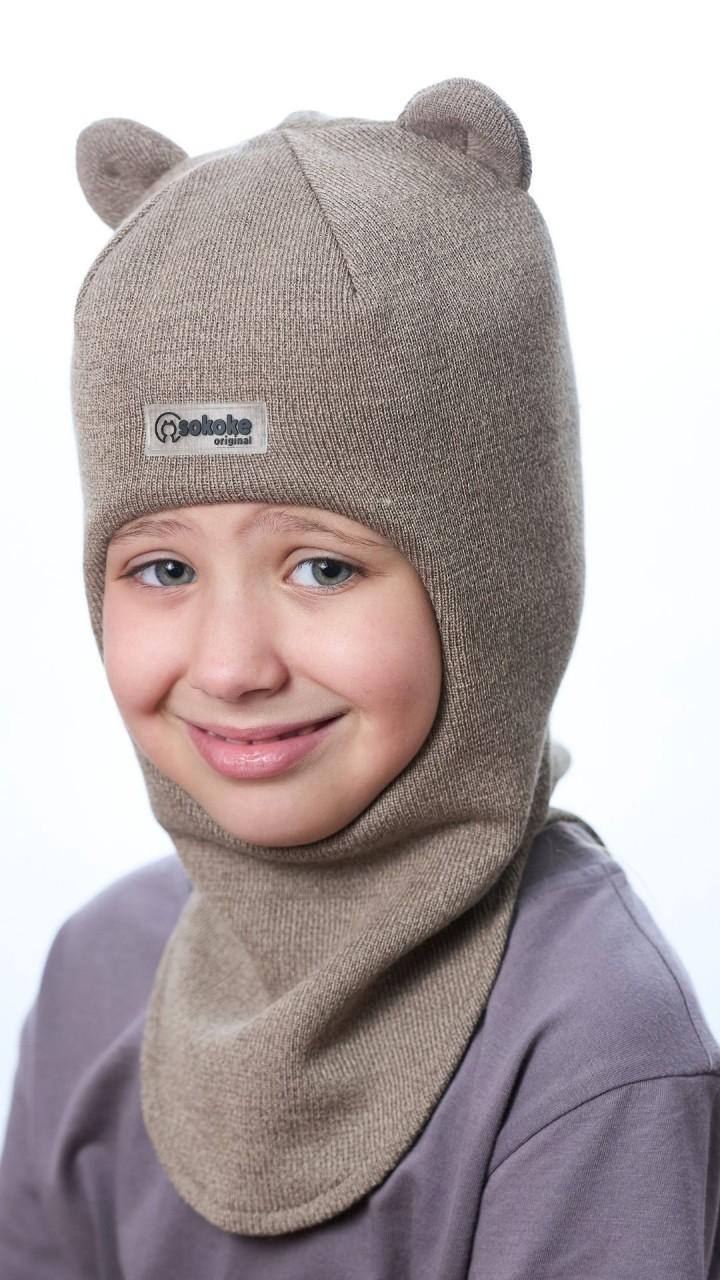 ШЛ-22051 Шапка-шлем, капучино