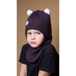 ШЛ-22062 Шапка-шлем, бургунди