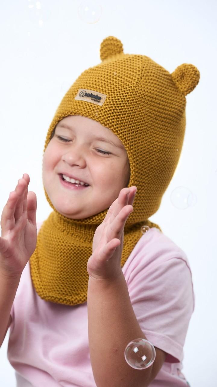 ШЛ-22071 Шапка-шлем, горчица